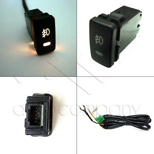 Factory Style 5 Pin 12v Fog Light Led Push Button Switch 39mm X 21mm