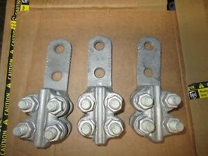 Fargo Hubbell Acf 6b Substation Conductor Connector Lot Of 3