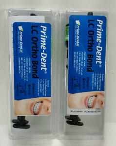 Prime dent Pack Of 2 Light Cure Orthodontic Adhesive Bonding System 2 X 5g Syrin