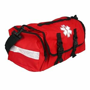 First Responder Emt Paramedic On Call Trauma Bag With Reflectors Red 17 x7x10