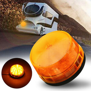 Warning Flash Light Amber Car Truck Beacon Strobe Emergency Led Lamp 15led Dc12v