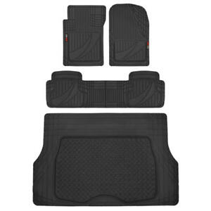Motor Trend Trim to fit Heavy Duty Rubber Car Floor Mats Trunk Liner Black