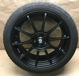 Sparco Assetto Gara Black 10 Spoke 18x8 18 5x100 Bolt Pattern Wheel Rim W Tire