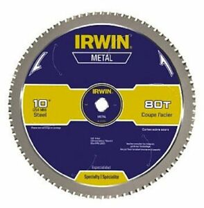 Irwin Tools Metal cutting Circular Saw Blade 10 inch 80t 4935561
