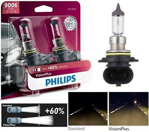 Philips Vision Plus 60 9006 Hb4 55w Two Bulbs Head Light Replacement Halogen Oe