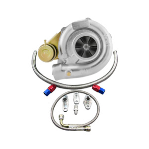Cxracing Dual Ball Bearing T61 Turbo Charger W Oil Fitting For Supra Mk3 7mgte