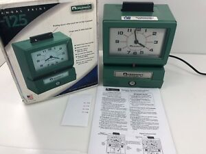 Acroprint Model 125 Time Recorder Nice Condition No Key