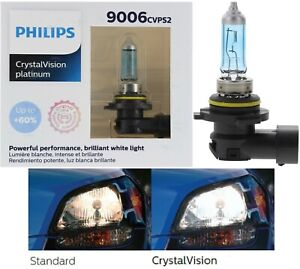 Philips Crystal Vision Ultra 9006 Hb4 55w Two Bulbs Head Light Low Beam Replace