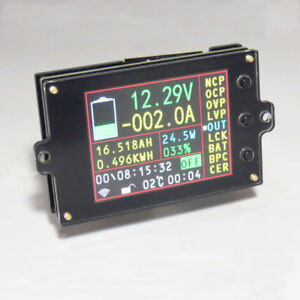 Wireless Battery Test Meter Hall Sensor Dc 120v500a Volt Current State Of Charge
