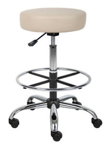 Backless Beige Black Or Gray Vinyl Tall Medical Dental Tattoo Salon Stools Chair