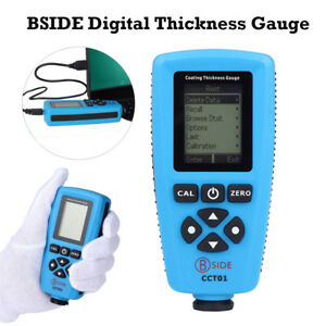 Bside Digital Thickness Gauge Paint Coating Meter Tester Auto Measure 0 1300um