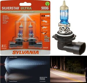 Sylvania Silverstar Ultra 9006 Hb4 55w Two Bulbs Head Light Replacement Lamp Fit