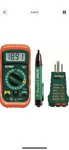 Electrical Test Kit Tools Tester Digital Voltmeter Ammeter Ohmmeter Extech Mn24