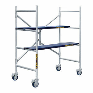 Mini Platform Scaffold Step Ladder Folds To 6in d