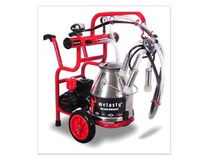 Melasty Single Cow Portable Electric Milking Machine W two Handles And Wheels