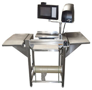 Hobart Hws 4 c Deli Grocery Hand Wrap Station W 12 Hour Timer Epp Epcp Scale