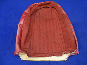 90 91 92 Mustang Convertible Left Front Red Seat Back Cover Used 2