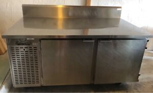 Edwards Deep Work Top Refrigerator Cooler 2 Solid Doors S s Top 110v 60hz