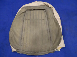 91 92 Mustang Gt Convertible Left Front Seat Back Cover Titanium Grey Used 5