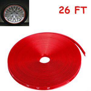 2roll Car Wheel Hub Rim Edge Protector Ring Tire Strip Guard Line Rubber Sticker