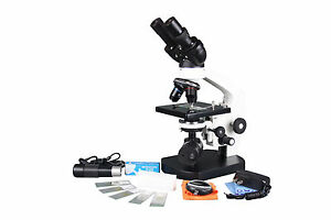 2500x Biology Compound Led Microscope W Usb Camera 100x Oil 3d Stage