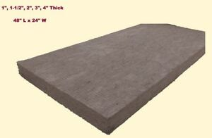 Mineral Wool Sheets 48 X 24 High Temperature Insulation Density 8 Green