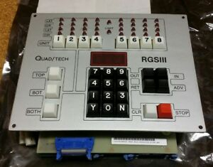 Quadtech Printing Press Main Keyboard For Rgs Iii 3 Register Guidance System