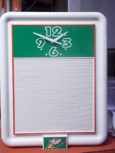 7up Clock Menu Board New Quartz Clock Mechinism Your Choice Black Or Red Letters