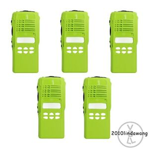 5x Green Replacement Housing For Motorola Ht1250 Limited keypad Portable Radio