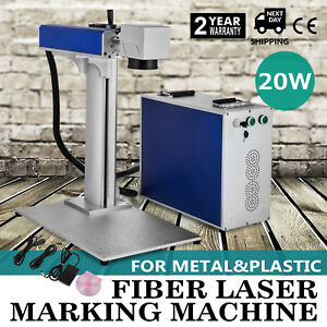 20w Fiber Laser Marking Engraving Machine Metal Engraver Usb Port Printer