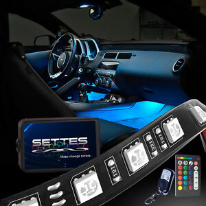 Million Color Led Interior Car Kit Under Dash Footwell Smd Strip Accent Lighting
