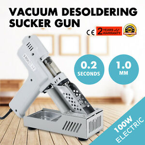 Electric Vacuum Desoldering Pump Sucker Gun Iron Metal 100w Power Continuous