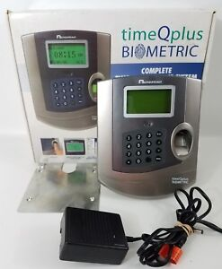 Acroprint Timeqplus Tq100 Biometric Time Clock Terminal Fingerprint Scanner