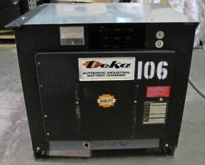 Deka 24v Electric Forklift Battery Charger 450ah 8hr 208 240 480 3ph 12 Cell