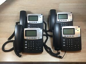 Lot Of 4 Digium D40 Ip Phone 2 line Sip With Hd Voice Poe W Stands And Handset