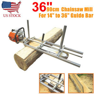 Us Chainsaw Guide Bar Chain Saw Mill Log Planking Lumber Cutting Fit 14 36