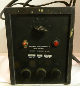 Vintage Luma Electric Equipment Co Model 626 Soldering Tool 18 Heat Stages