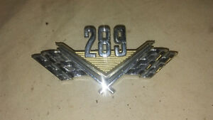 Vintage Ford 1965 Crossed Flag Badge Emblem C50b 16237 a Mustang Fairlane