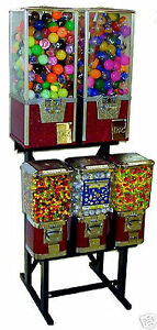 Vending Machine Toy Capsule Gumball Candy Vending Rack Stand 5 in 1 Combo