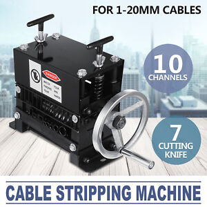 Manual Electric Wire Stripping Machine 1 20mm Peeling Portable Metal Cable