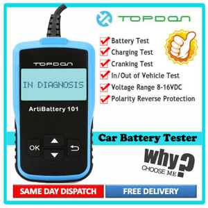 12v 2000 Cca Automotive Car Battery Load Tester Digital Vehicle Analyzer Tool