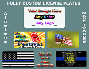 Personalized Aluminum Metal License Plates Customize W Text Picture Auto Plate