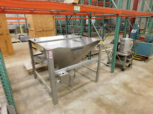 Hapman Stainless Hopper 46 X 47 X 42 With 6 5 X 9 Discharge