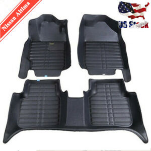 For Nissan Altima 2007 2018 Floor Mat Floor Liner All weather Waterproof Carpets