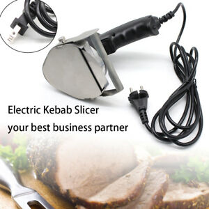 Professional Electric Shawarma Doner Kebab Slicer Gyros Cutter Knife Meat Carver