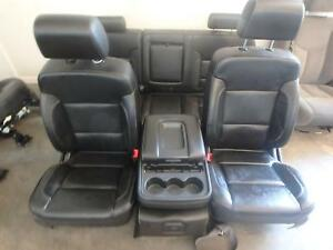 14 16 Chevrolet Silverado 2500 3500 Front Rear Seat Console Black Leather Power