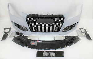 Replacement For 2012 15 A7 S7 Rs7 Style Front Bumper Grille Valance Kit Set