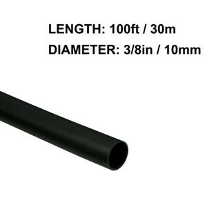 3 8in 10mm Diameter Heat Shrink Tubing Shrinkable Tube 100ft Black