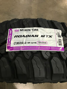 2 New Lt 285 55 20 Lre 10 Ply Nexen Roadian Mtx Mud Tires