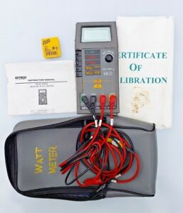 Extech Dw 6060 Digital Watt Meter W all Test Leads Case Calibration Papers